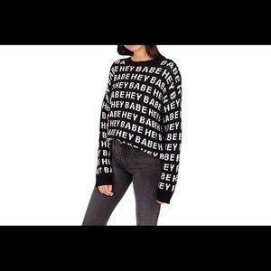 "Brunette the Label ""Hey Babe"" Oversized Sweater"
